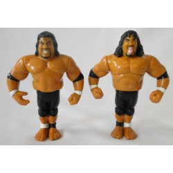 The Headshrinkers - Fatu and Samu - Tag Team WWF Hasbro 1994