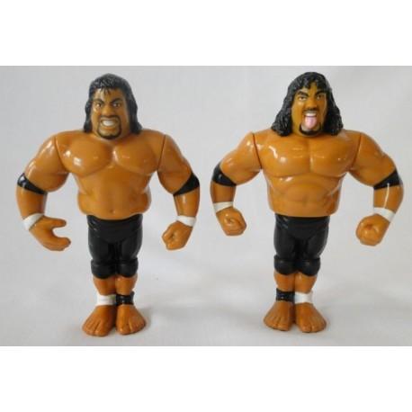 The Headshrinkers - Fatu and Samu - Tag Team WWF Hasbro 1994