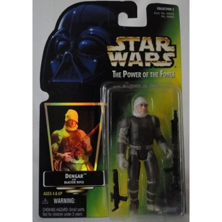 Dengar with Blaster Rifle, MOC US w/ holographic sticker