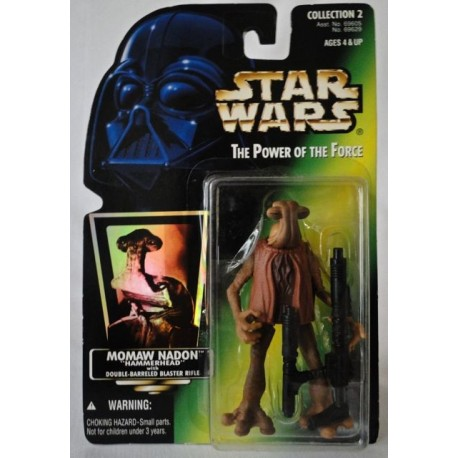 Momaw Nadon Hammerhead with Double-Barreled Blaster Rifle, MOC US w/ holographic sticker