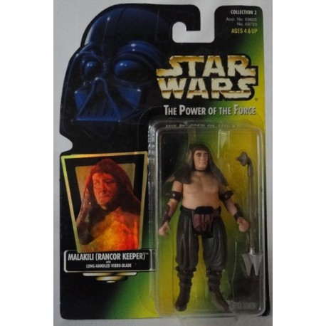 Malakili (Rancor Keeper) with Long-Handled Vibro-Blade, MOC US w/ holographic sticker