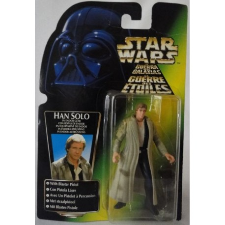 Han Solo in Endor Gear with Blaster Pistol, MOC EU