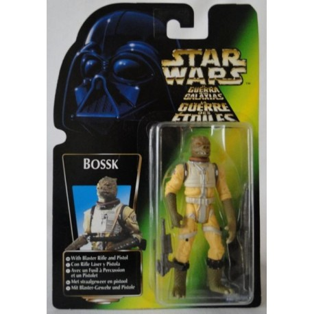 Bossk with Blaster Rifle and Pistol, MOC EU