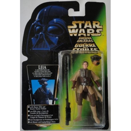 Leia In Boushh Disguise with Blaster Rifle and Bounty Hunter Helmet, MOC EU