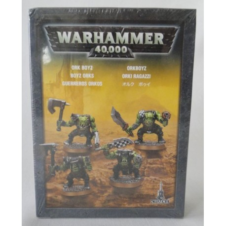 4 Ork Boyz, Warhammer 40,000, MIB. Games Workshop, Citadel 2008.