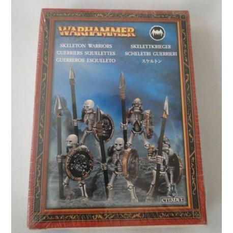 5 Skeleton Warriors, Warhammer, MIB. Games Workshop, Citadel 2009.