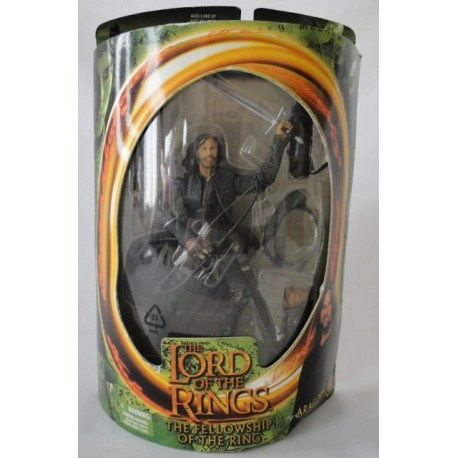 Aragorn with Real Arrow Launching Action, The lord of the Rings, The Fellowship of the Ring, MIB. Toy Biz 2001.