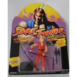 Ken Masters, Shotokan Karate Fighter, Street Fighter, Official Movie Fighter, MOC. Hasbro 1993.