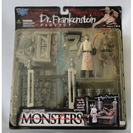 Dr. Frankenstein Playset, series 2, Todd McFarlane's Monsters MOC. McFarlane Toys 1998.