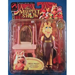 Miss Piggy - The Muppet Show Action Figure MOC - Palisades Toys 2002 Kermit Jim Henson