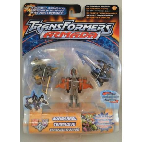 Gunbarrel, Terradive and Thunderwing MOC Transformrs armada