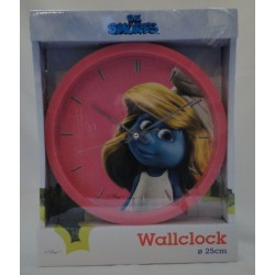 pink Smurfs Wall Clock