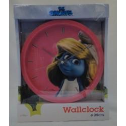pink Smurfs Wall Clock