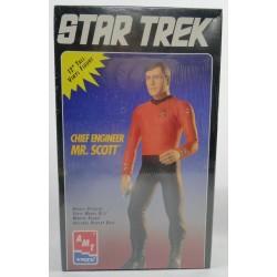 """Chief Engineer Mr. Scott - Star Trek - 12"""" vinyl Model Kit - AMT ERTL"""