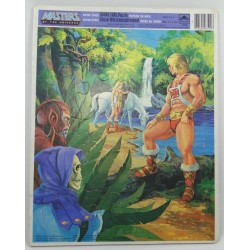He-man Frame Tray Puzzle 1982 - Yellow haired Teela Golden Mattel