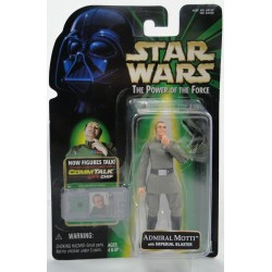 Admiral Motti MOC CommTalk chip - Power of the Force - Kenner 1999