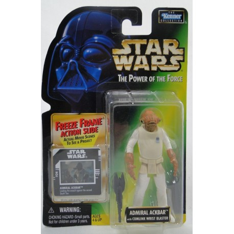 Admiral Ackbar Feeze Frame slide MOC - Power of the Force - Kenner