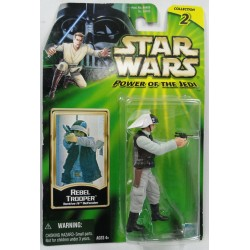 Rebel Trooper MOC - Power of the Jedi 2 - Hasbro 2000