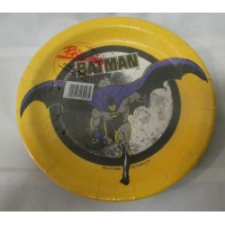 Batman plates MIP Party Favours - DC comics 1989