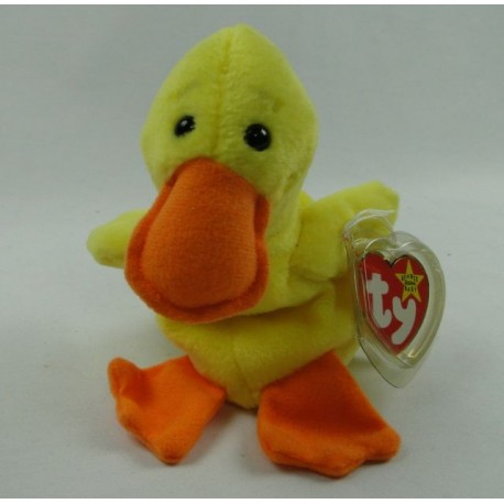 Quackers the Duckling - TY Beanie Baby original 1996