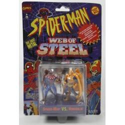 Spiderman vs Hobgoblin Web of Steel ToyBiz Marvell Comics DIE CAST metal