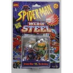 Spiderman vs Dr Octopus Web of Steel ToyBiz Marvell Comics DIE CAST metal