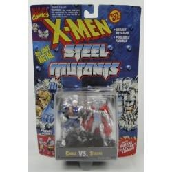 Cable vs Stryfe X-men Steel Mutants ToyBiz Marvell Comics DIE CAST metal