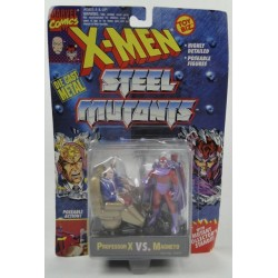 Professor X vs Magneto X-men Steel Mutants ToyBiz Marvell Comics DIE CAST metal