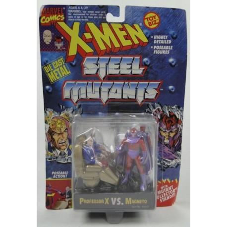 Professor X vs Magneto X-men Steel Mutants ToyBiz Marvell Comics DIE CAST metal