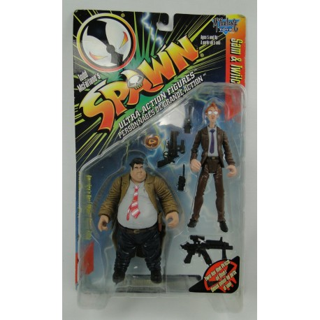 Sam and Twitch MOC - Spawn Action Figures - McFarlane Toys 1996