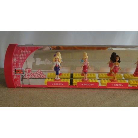 Barbie Line-up SHOP DISPLAY MEGA BLOCKS mini figures