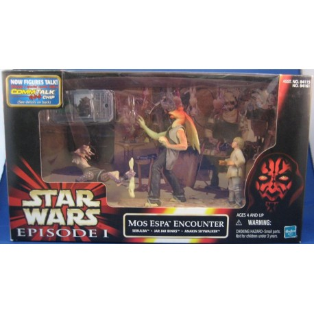 Mos Espa Encounter - Sebulba, Jar Jar, Binks Anakin Skywalker MIB EU - Star Wars Kenner POTF