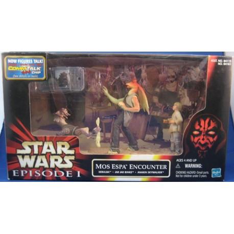 Mos Espa Encounter - Sebulba, Jar Jar, Binks Anakin Skywalker MIB EU - Star Wars Kenner POTF