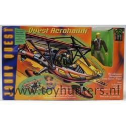 Quest Aerohawk MIB NRFB - w/ Jonny Quest figure - Galoob 1997