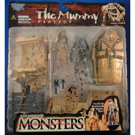 The Mummy Playset - Todd McFarlanes Monsters Series 2 MOC Horror