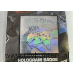 Millenium Falcon Hologram Badge MIP AH Prismatic 1994 UK