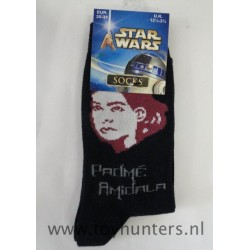 Padme Amidala Socks 35-38 EUR 12 1/2-3 1/2 UK 2002 Children Socks