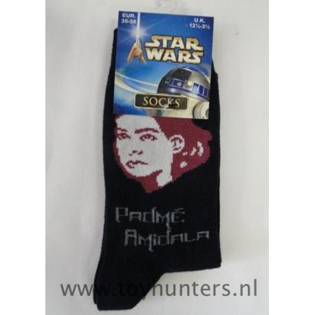 Padme Amidala Socks 35-38 EUR 12 1/2-3 1/2 UK 2002 Children Socks