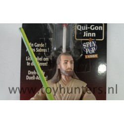 Qui-Gon Jinn Spin Pop Candy asis On Card