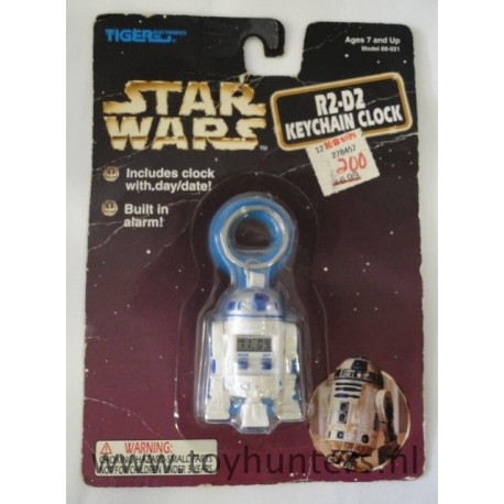R2-D2 keychain Clock loose with card Tiger asis