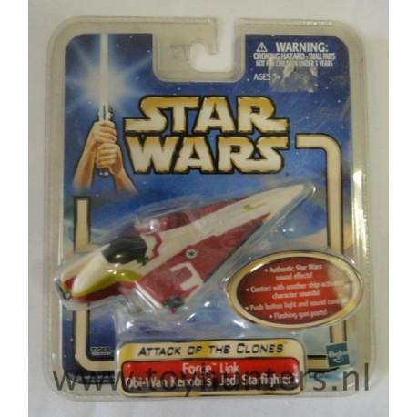 AOTC Force Link Obi-Wan Kenobi's Jedi Starfighter 2002 Tiger MOC No Sound