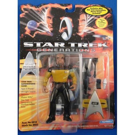 Lieutenant Commander Worf - Star Trek Generations MOC - Star Trek Science Fiction Playmates