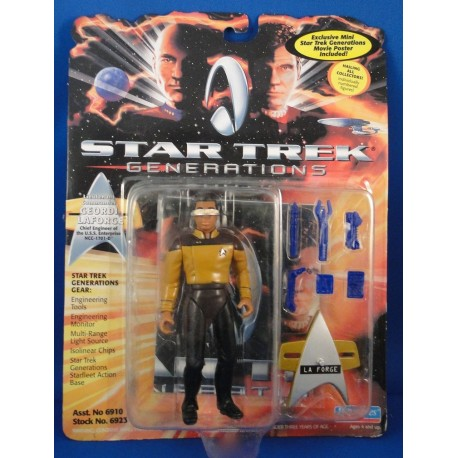 Lieutenant Commander Geordi Laforge - Star Trek Generations MOC - Star Trek Science Fiction Playmates