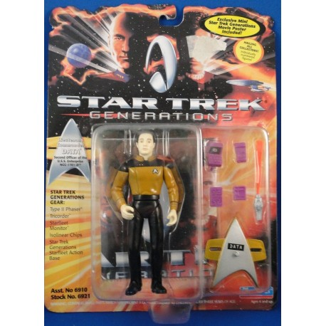 Lieutenant Commander Data - Star Trek Generations MOC - Star Trek Science Fiction Playmates