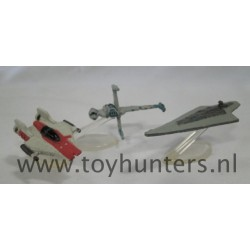 Collection IX loose all with stands - Star Wars Micro A-wing B-wing Executer