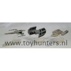 Collection III loose all with stands - Star Wars Micro Machines X-wing Y-wing DV TIE Fighter