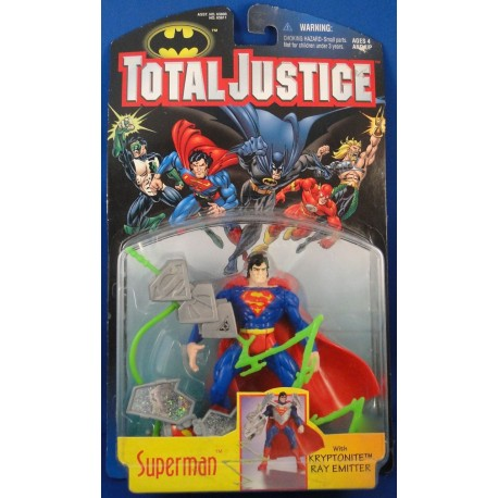 Superman w/ Kryptonite Ray Emitter - Total Justice MOC - Super Man Kenner