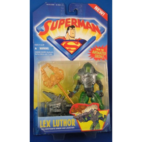 Lex Luthor w/ Kryptonite Armor and Launcher - Superman from The Animated Show MOC