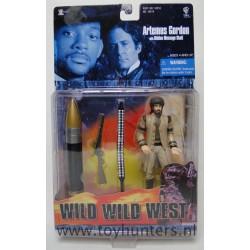 Artemus Gordon w/hidden message shell MOC - Wild Wild West - WB Toys 1999
