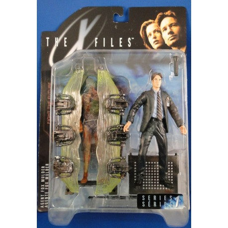 Agent Fox Mulder w/ Cryopod Chamber MOC - McFarlane Toys Sci Fiction horror